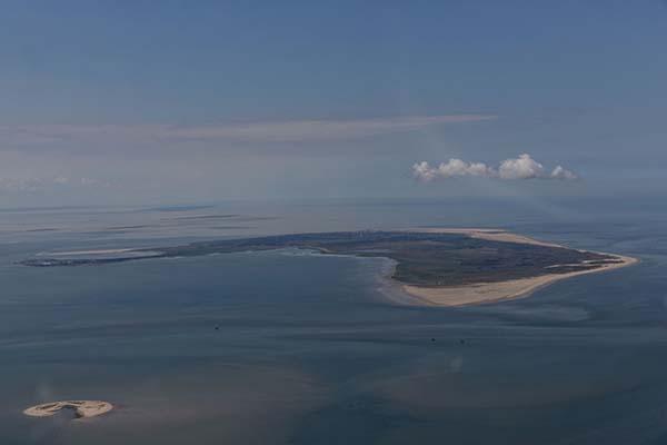 Borkum - Insel von oben